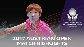 【Video】SUN Yingsha VS WANG Manyu, 2017 Seamaster 2017 Platinum, Austrian Open semifinal