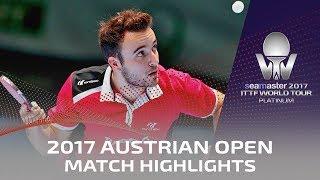 【Video】LIN Gaoyuan VS GAUZY Simon, 2017 Seamaster 2017 Platinum, Austrian Open semifinal
