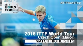 【Video】SILBEREISEN Kristin VS MAKI Shiomi, 2016 Czech Open  quarter finals