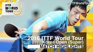 【Video】XU Xin VS MATSUMOTO Cazuo, 2016 Korea Open  best 16