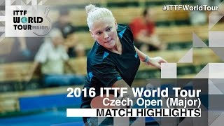 【Video】EKHOLM Matilda VS POTA Georgina, 2016 Czech Open  best 16