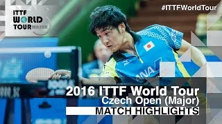 【Video】AKKUZU Can VS YUTO Muramatsu, 2016 Czech Open  semifinal