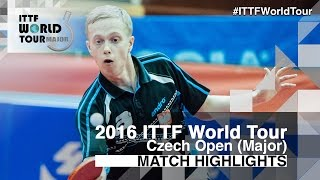 【Video】BADOWSKI Marek VS KIM Minhyeok 2016 Czech Open