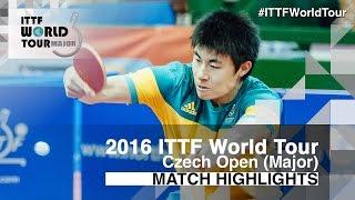 【Video】TONIN Ryuzaki VS HU Heming 2016 Czech Open