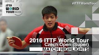 【Video】QIU Dang VS PARK Chan-Hyeok 2016 Czech Open