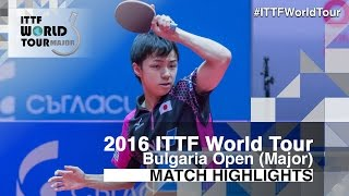 【Video】KONECNY Tomas VS YUTO Kizukuri, 2016 - Asarel Bulgaria Open  semifinal