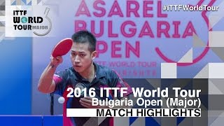 【Video】ANGLES Enzo VS LIAO Cheng-Ting, 2016 - Asarel Bulgaria Open  finals