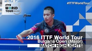 【Video】LIAO Cheng-Ting VS SUN Chia-Hung, 2016 - Asarel Bulgaria Open  semifinal