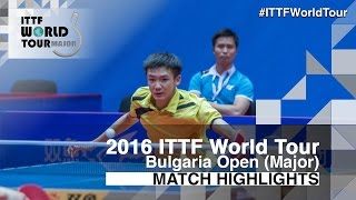 【Video】ROBINOT Quentin VS TSAI Chun-Yu, 2016 - Asarel Bulgaria Open  best 32