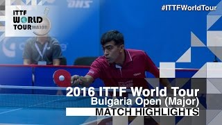 【Video】DESAI Harmeet VS TODOROV Stefan, 2016 - Asarel Bulgaria Open  best 64