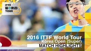 【Video】CHUANG Chih-Yuan VS JOO Saehyuk, 2016 Korea Open  best 16