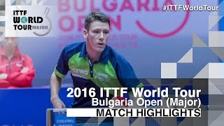 【Video】ANGLES Enzo VS ALLEGRO Martin, 2016 - Asarel Bulgaria Open  best 16