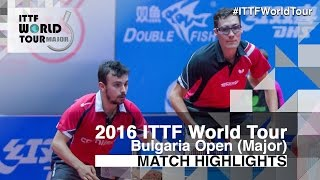 【Video】TSAI Chun-Yu・YANG Tzu-Yi VS LE BRETON Thomas・Adrien Mattenet, 2016 - Asarel Bulgaria Open  best 16