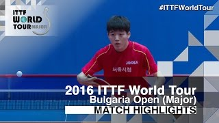 【Video】ALEXANDROV Teodor VS KIM Minho 2016 - Asarel Bulgaria Open