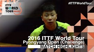 【Video】KANG Wi Hun VS XU Yingbin, 2016 Pyongyang Open  finals