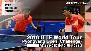 【Video】CAO Wei・XU Yingbin VS YANG Shuo・ZHAO Zhaoyan, 2016 Pyongyang Open  finals