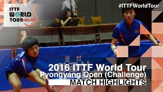 【Video】KIM Song I・RI Myong Sun VS KIM Hye Song・RI Mi Gyong, 2016 Pyongyang Open  finals