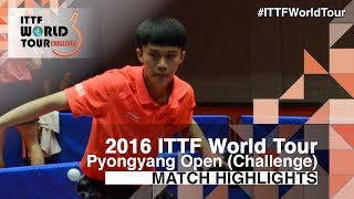 【Video】XU Yingbin VS ZHAO Zhaoyan, 2016 Pyongyang Open  semifinal