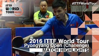 【Video】RO Kwang Jin VS KANG Wi Hun, 2016 Pyongyang Open  semifinal