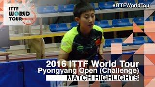 【Video】FAN Siqi VS KIM Song I, 2016 Pyongyang Open  semifinal