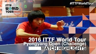 【Video】KIM Jinju VS KIM Nam Hae, 2016 Pyongyang Open  finals