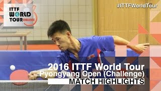 【Video】RI Kwangmyong VS ZHAO Zhaoyan 2016 Pyongyang Open