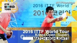 【Video】XU Xin・ZHANG Jike VS JEOUNG Youngsik・LEE Sangsu, 2016 Korea Open  finals