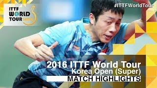 【Video】XU Xin VS FAN Zhendong, 2016 Korea Open  semifinal