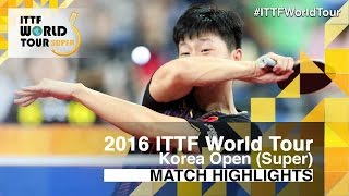 【Video】JEOUNG Youngsik VS MA Long, 2016 Korea Open  best 16