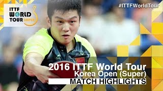 【Video】TSUBOI Gustavo VS FAN Zhendong, 2016 Korea Open  best 32