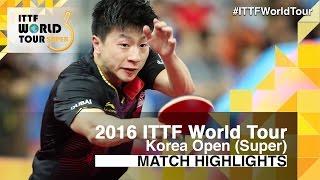 【Video】JANG Woojin VS MA Long, 2016 Korea Open  best 32