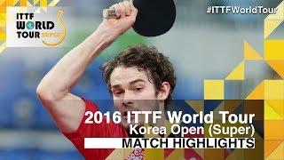 【Video】WALKER Samuel VS MIZUKI Oikawa, 2016 Korea Open  semifinal