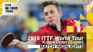 【Video】PITCHFORD Liam VS LIM Jonghoon, 2016 Korea Open  best 32