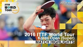 【Video】TSUBOI Gustavo VS AN Jaehyun, 2016 Korea Open  best 64