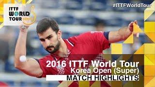 【Video】GACINA Andrej VS HWANG Minha, 2016 Korea Open  best 64