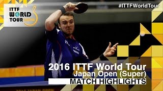【Video】GAUZY Simon VS FREITAS Marcos, 2016 Laox Japan Open  best 16
