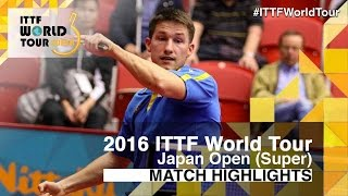 【Video】KARLSSON Kristian VS LIN Gaoyuan, 2016 Laox Japan Open  best 32
