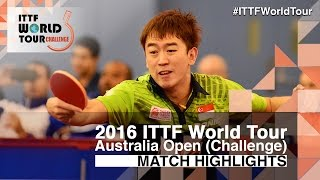 【Video】CHEN Feng VS LI Hu, 2016 Australian Open  semifinal