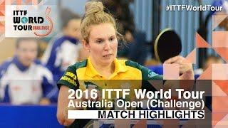 【Video】TAPPER Melissa VS HITOMI Sato, 2016 Australian Open  best 32