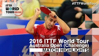 【Video】AGATHE Cedric VS JUN Mizutani, 2016 Australian Open  best 64