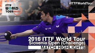 【Video】CHUANG Chih-Yuan VS JEOUNG Youngsik, 2016 Slovenia Open  semifinal