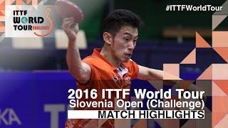 【Video】JOO Saehyuk VS WONG Chun Ting, 2016 Slovenia Open  quarter finals