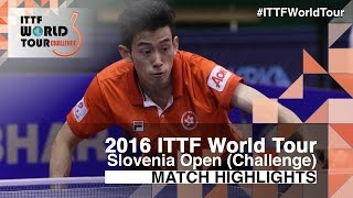 【Video】WONG Chun Ting VS CHEN Chien-An, 2016 Slovenia Open  best 16