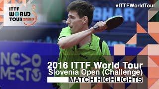 【Video】SZUDI Adam VS TOMOKAZU Harimoto, 2016 Slovenia Open  best 16
