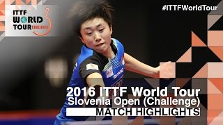 【Video】Feng Tianwei VS MISAKI Morizono, 2016 Slovenia Open  best 16