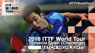 【Video】JOO Saehyuk VS MONTEIRO Thiago, 2016 Slovenia Open  best 32