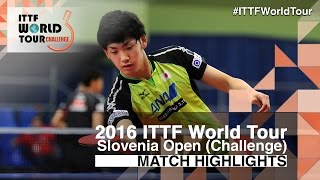 【Video】ALLEGRO Martin VS YUTO Muramatsu, 2016 Slovenia Open  best 64