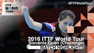 【Video】WU Jiaduo VS KIM Kyungah, 2016 Slovenia Open  best 64