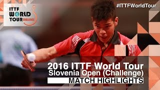 【Video】CASSIN Alexandre VS FRANCO Carlos 2016 Slovenia Open