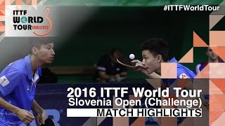 【Video】CASSIN Alexandre・SEYFRIED Joe VS KWAN Man Ho・NG Pak Nam, 2016 Slovenia Open  best 32